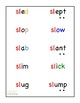 Blends Word List Modified for Special Education