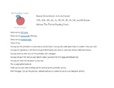 Blends Word Match Packet 1 - STR, SCR, SPL, BL, CL, FR, PR