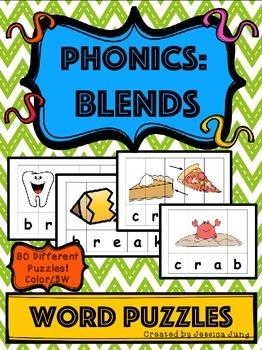 Phonics: Blends - Word Puzzles