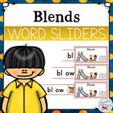 Blends Segmenting and Blending Cards - Word Sliders