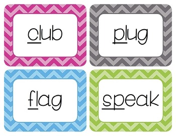 Blends Word Wall Cards