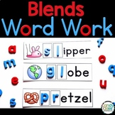 Blend Word Work Activities & Vocabulary Cards for L Blends, R Blends & S Blends