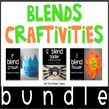 Blends Word Work Craftivities - Phonics Project BUNDLE