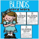 Blends Word Work (S Blends, R Blends, and L Blends)