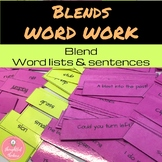 Blends Word Work and Sentences