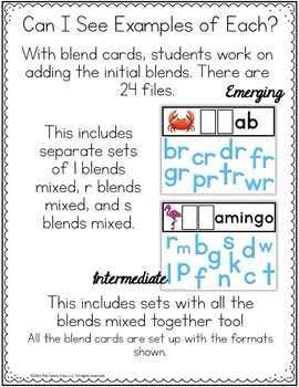 Blends Digital Word Work Cards- Paperless Phonics Centers