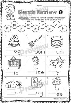Blends Worksheets - Workbook and Mini Book