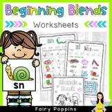 Beginning Blends Worksheets & Mini Book