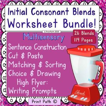 Initial Consonant Blends -Worksheet Bundle
