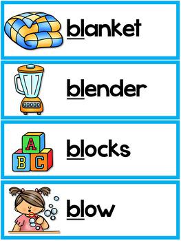 Free Blends Worksheets - Bl Blend Words