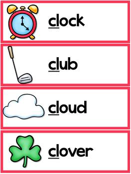 L Blends Worksheets - Cl Words