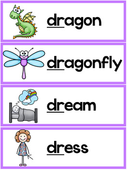 R Blends Worksheets - Dr Blend Words