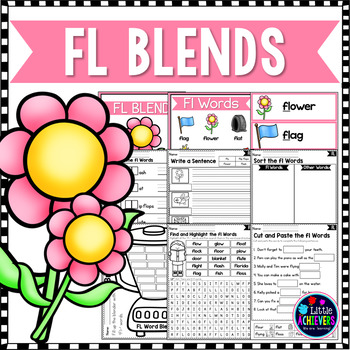 L Blends Worksheets Fl Blend Words By Little Achievers Tpt