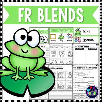 R Blends Worksheets - Fr Words