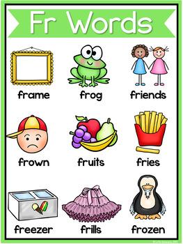 R Blends Worksheets Fr Blend Words 3166163 on Kindergarten Homework