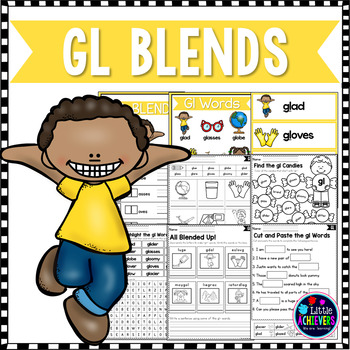 L Blends Worksheets Gl Blend Words By Little Achievers Tpt
