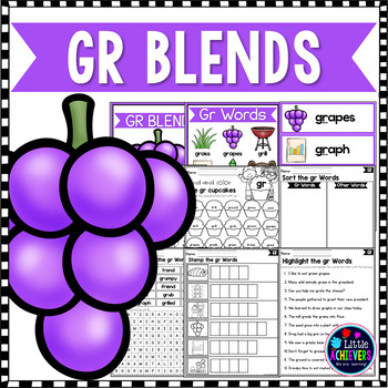 R Blends Worksheets - Gr Blend Words