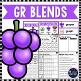 R Blends Worksheets - Gr Blend Words