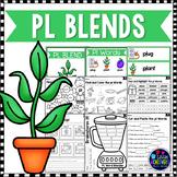 L Blends Worksheets - Pl Blend Words