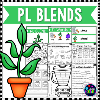 L Blends Worksheets Pl Blend Words By Little Achievers Tpt