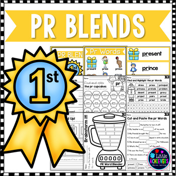 R Blends Worksheets - Pr Blend Words