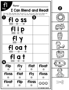 Blends Worksheets | Blending & Reading Words with Blends by A ...