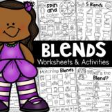 Blends Worksheets - S Blends, L Blends, R Blends
