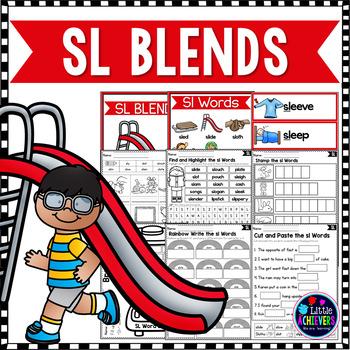 Blends Worksheets - Sl Words