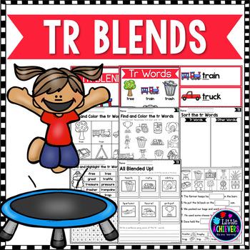 R Blends Worksheets - Tr Words