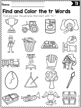 Worksheet On Photosynthesis R Blends Worksheets  Tr Blend Words By Little Achievers  Tpt Fun Worksheets For 4th Grade Excel with First Grade Common Core Worksheets Word R Blends Worksheets  Tr Blend Words Crucible Worksheets
