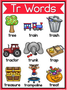 R Blends Worksheets - Tr Blend Words