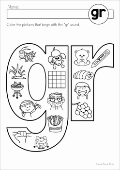 Blends Worksheets and Activities - GR