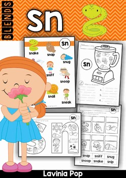 Blends Worksheets and Activities - SN