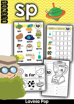 Blends Worksheets and Activities - SP