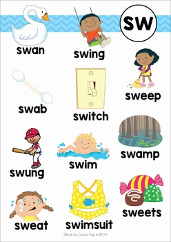 Blends Worksheets and Activities - SW