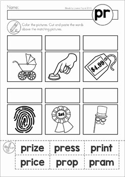 Blends Worksheets and Activities - PR
