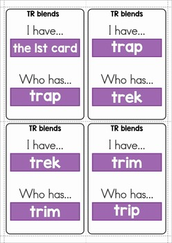 Blends Worksheets and Activities - TR