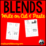 Blends Write in or Cut and Paste Activity