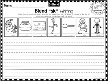 Blends Writing Worksheets