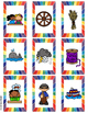 Blends and Digraph Literacy Center Game-Collect 4