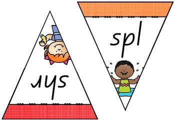 Blends and Digraph Pennant Display
