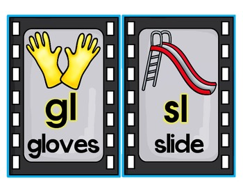 Blends and Digraph Posters Movie Theme