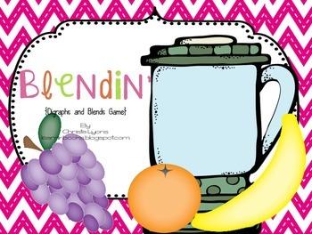Blendin' {Blends and Digraph Word Maker Game}