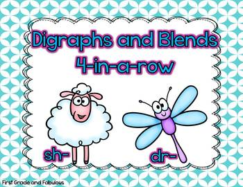Blends and Digraphs 4-in-a-row