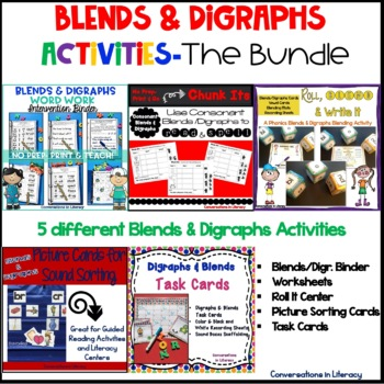 Blends and Digraphs Activities The Bundle