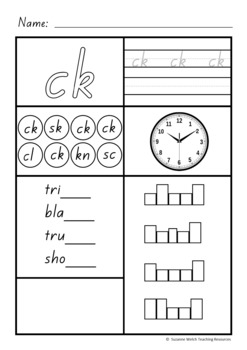 Blends and Digraphs  -  Activity sheets