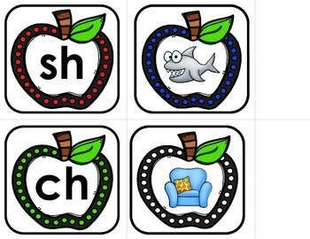 Blends and Digraphs - Apple Match