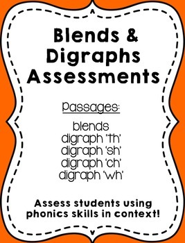 Blends and Digraphs Assessment