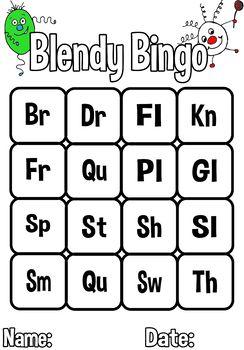 Blends and Digraphs Bingo Game - No prep