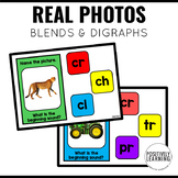 Blends and Digraphs Boom Cards with Real Photos